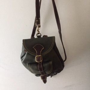 Vintage Mini Roots Leather Backpack